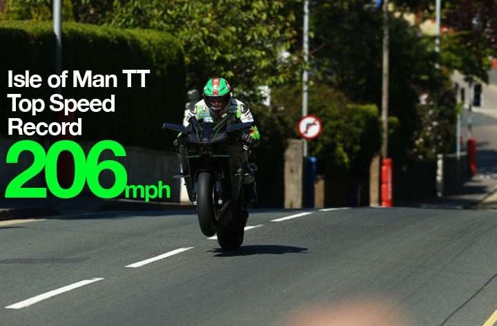 331 km/h on the Kawasaki H2R