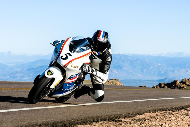 Carlin Dunn wins the 2013 event and sets a new motorcycle hill climb record aboard the all-electric Lightning LS-218