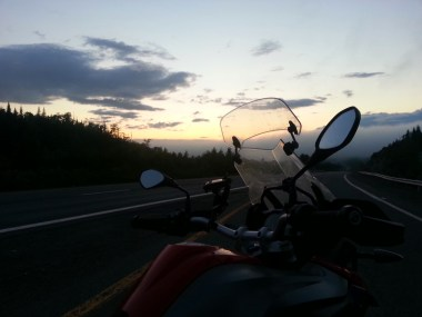 A sunset is even more sweet after you've just avoided a ticket.