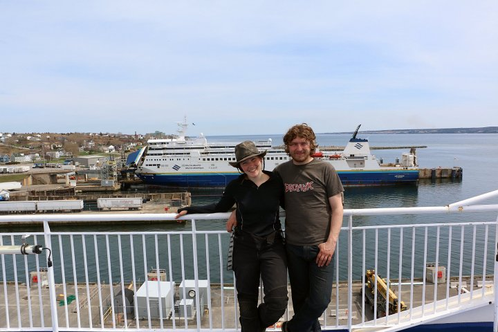 About to board the boat to Newfoundland!