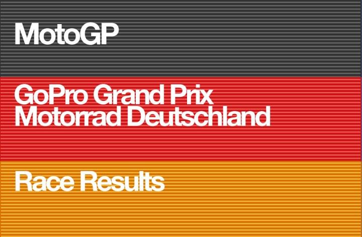MotoGP – GoPro Motorrad Grand Prix Deutschland – Race Results