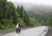 Slogging it out in the wet, in southern NB.