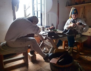 Making shoes at Fort Ticonderoga