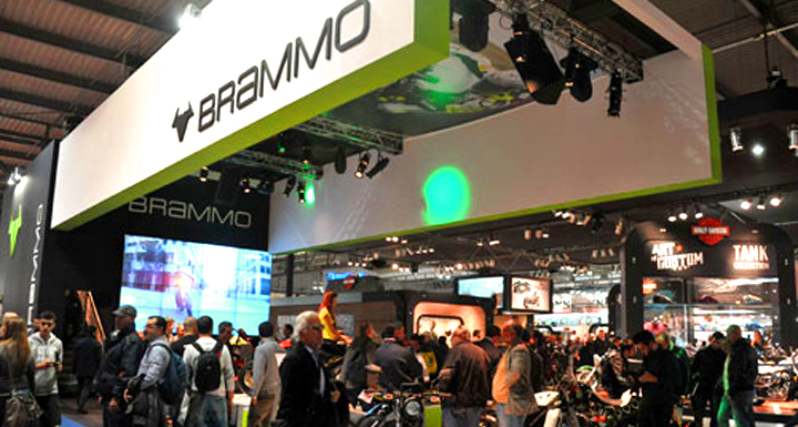 Go big or go home : Brammo and its very large (and expensive) trade show display at EICMA in Italy