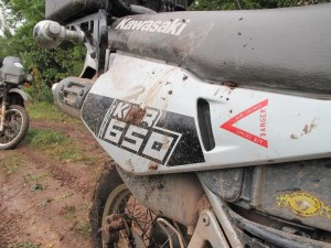 KLR warning sticker was a good idea for this year's rally