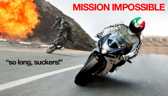 Forget Tom Cruise, the real Mission Impossible stars the California startup escaping it's creditors. Photo : Jensen Beeler taking out bad guys