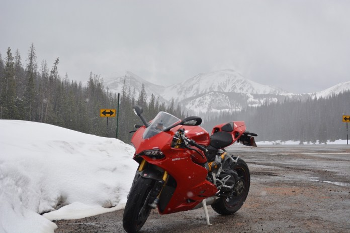 BRP secretly testing Ducati's Panigale near Valcourt, Québec on a typical July afternoon.