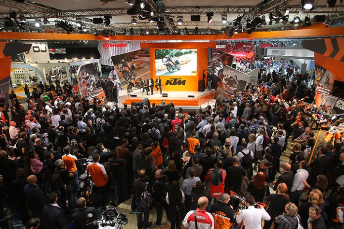 KTM Press event taking place at EICMA in 2014.