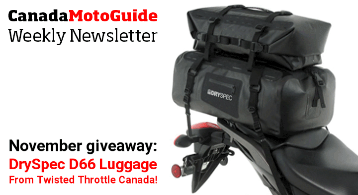 Twisted Throttle Canada presents the November CMG Newsletter giveaway !