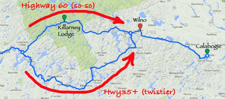 My route took me on the 60 through Algonquin Park, which is fine, but there is a more southerly option too.