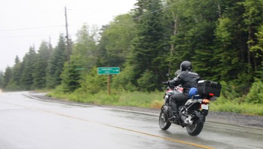 A sloggy weekend of torrential thunderstorms in Maine and NB was easily handled by the Alpinestars.
