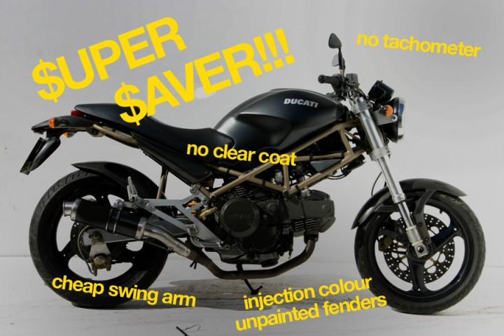 Mid 1990u0027s Ducati Monster Dark Was A Cost Cutting Masterpiece. It Made A