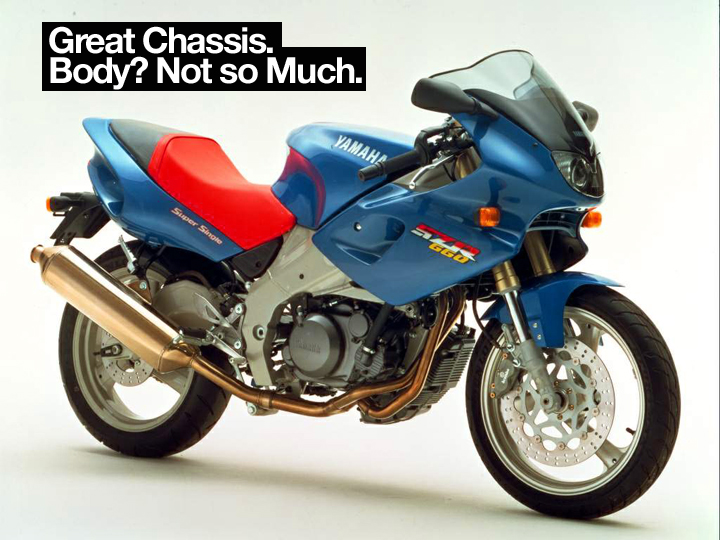 "Yamaha SZR 660 is if nothing else, a monument to a time when ""Boom Boom"" by Venga Boys was Italy's top hit."