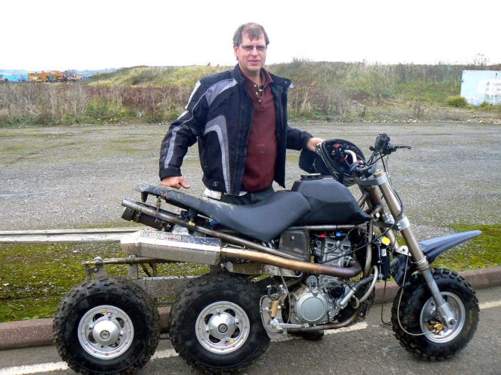 John Parson's in-line 3 wheeler. Draw your own conclusions. http://bit.ly/1VFiZPm