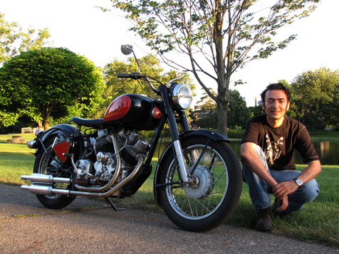 It looks like it came from the Royal Enfield factory, but it came from the hands of this guy.