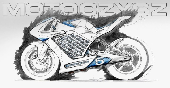 The defining sketch that gave birth to the first Motoczysz E1PC
