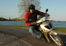A 150 scooter isn't typical hooning material, but Rob wasn't your typical motojourno.