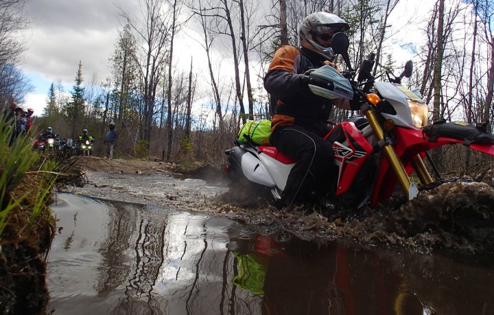 Jim takes the CRF250L through without issue.