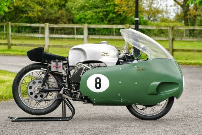 """""""She may not look like much, kid, but she's got it where it counts."""" 1957 Moto Guzzi 500 V8"""
