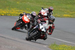 Rob might have been the fastest journo on track during his double-header win at Shubie, but the other CBR class that ran concurrently was another matter. Here is the setup for Stacey Nesbitt's pass to lap ...