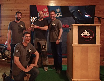 The winners of the original Fundy Adventure Rally in 2014.