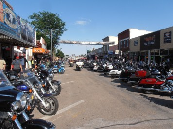 Sturgis' famous Main Street, not so busy ...