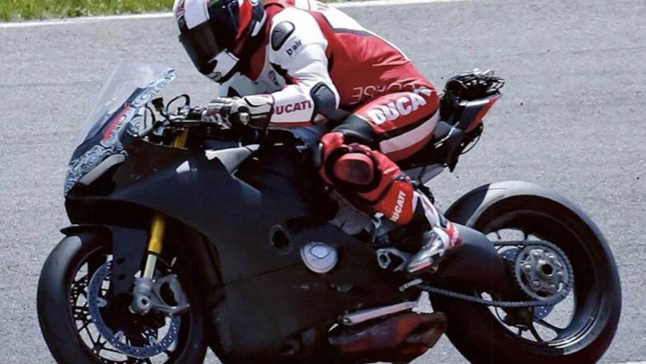 Ducati rumours: New V4 spied, and new Panigale specs leaked