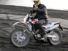 Fun near the shore in Lorneville. Lorneville is another fun diversion off this loop, especially with a dual sport bike.