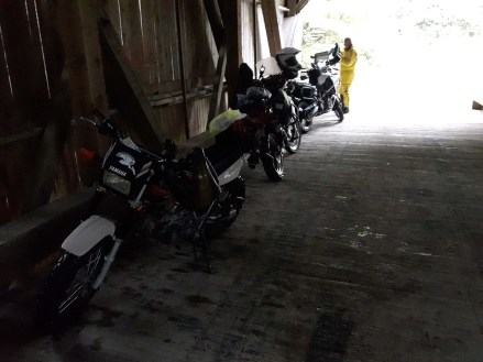 Pro tip: If you're going to break down in the rain, do it close to a covered bridge. Photo: Zac Kurylyk