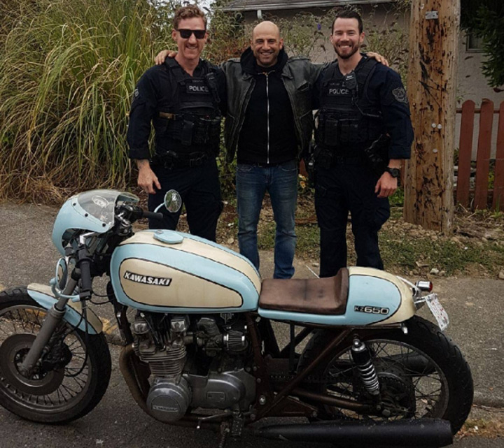 Victoria cops find stolen cafe racer