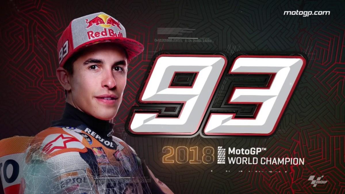 Marc Marquez is the 2018 MotoGP champion