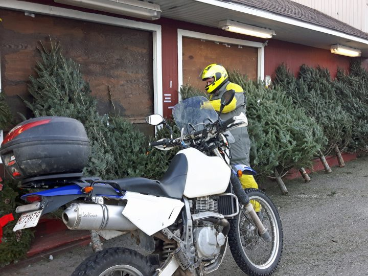 Taking back winter: Christmas shopping on a motorcycle