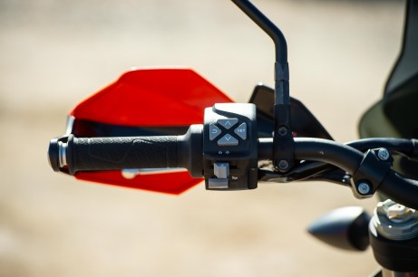 Electronics are managed through the left handlebar, and it is a seamless process.