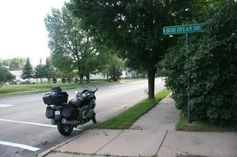 Bob's childhood street ...
