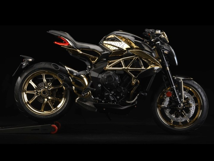 MV Agusta Dragster RC Shining Gold: Now, with more bling!