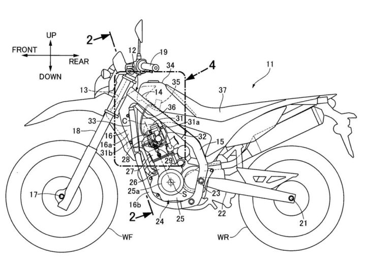 Alleged Honda patents indicate interesting changes for CRF250L