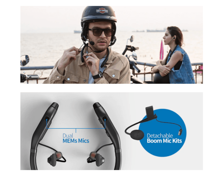 MPlus headphones offer new take on comm systems, plus noise cancellation