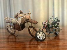 The Kenyan banana bike and a Cuban beer-can bike.