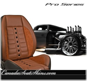 Restomod Brown Suede Leather Seats