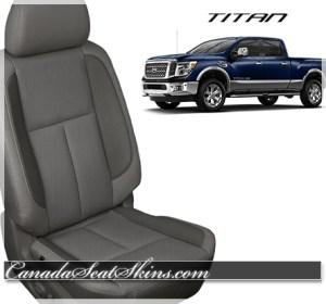 2016 Nissan Titan Grey Leather Seats
