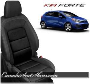 2014 - 2016 Kia Forte Black Carbon Leather Seats