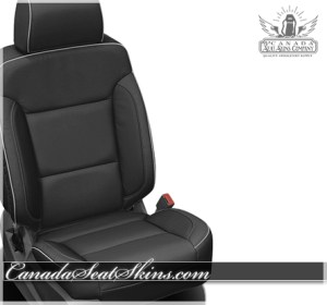 2017 Silverado Black Carbon Piped Leather Seats