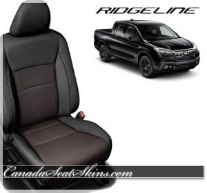 2017 Honda Ridgeline Barracuda Red Leather Seats