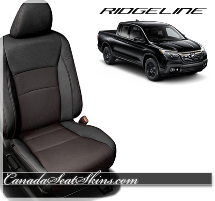 2017 Honda Ridgeline Barracuda Red Leather Seats