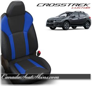 2018 Subaru Crosstrek Katzkin Blue Leather Seats
