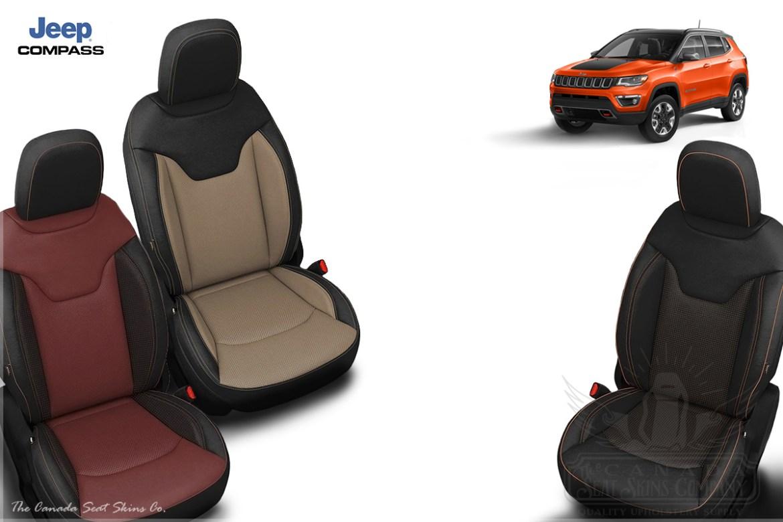 2018 Jeep Compass Custom Katzkin Leather Interiors