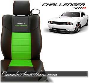 2014 Challenger SRT Katzkin Leather Upholstery Lime