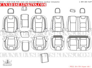 2015 - 2018 F150 Special Edition Leather Interior Schematic
