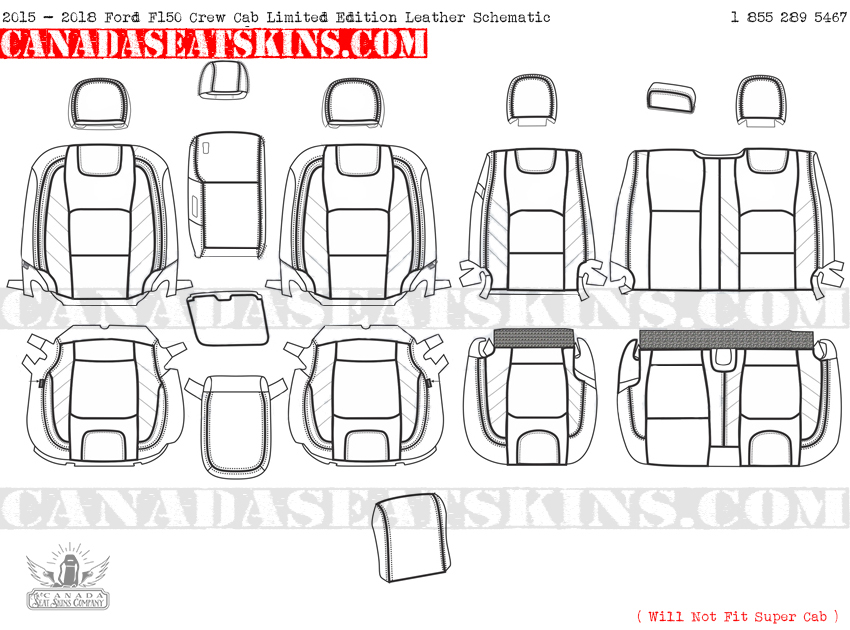 2015 - 2018 F150 Limited Edition Leather Seat Schematic