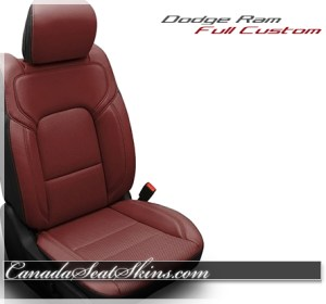 2019 Ram Red Katzkin Leather Seats